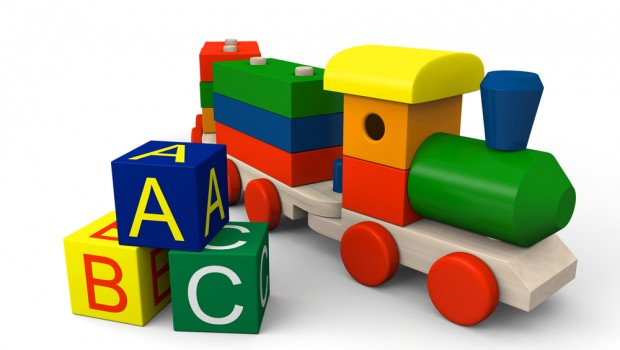 colourful train ABC