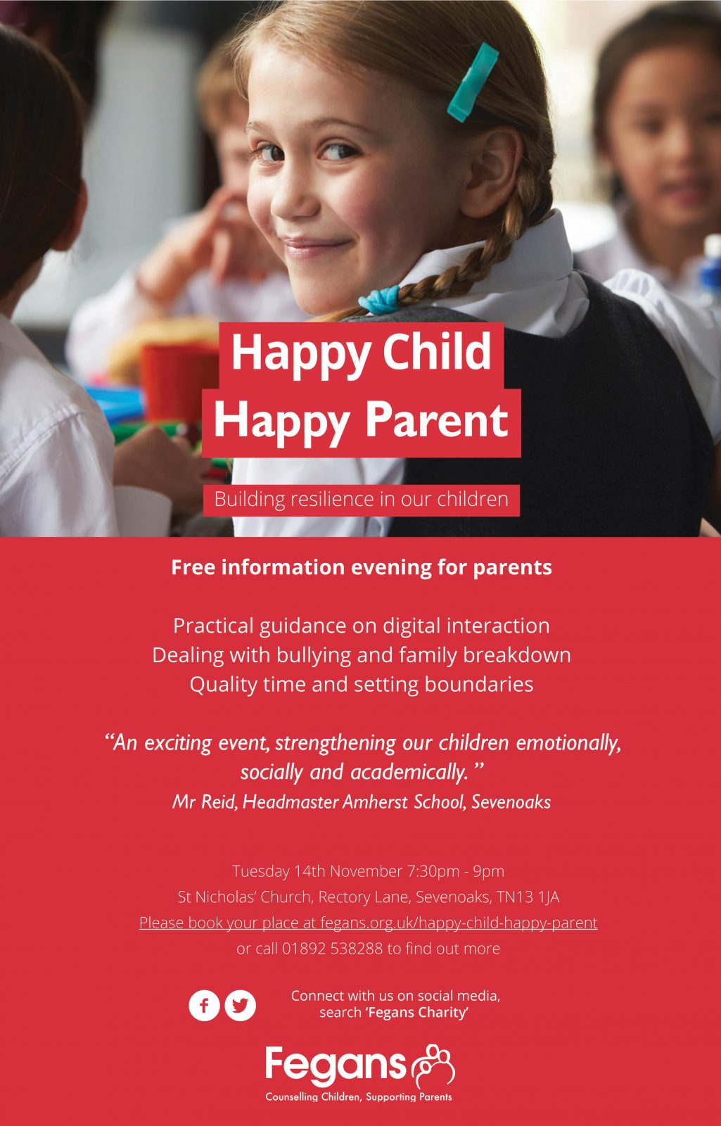 Sevenoaks mums happy child happy parent fegans charity are hosting a free information evening for parents of children of primary school age focusing on building resilience including thecheapjerseys Image collections